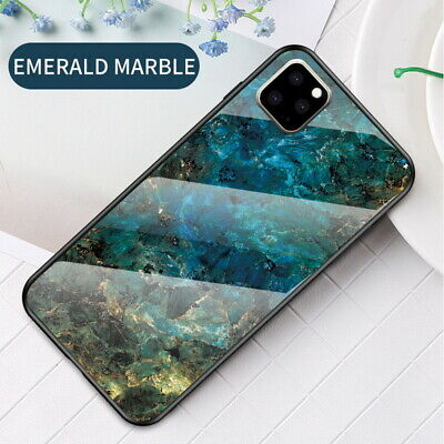 Luxury Marble Tempered Glass Case Cover For iPhone 11 Pro XS XR Max 8 7 6s Plus