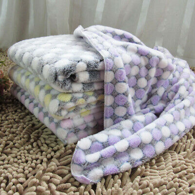 Cute Dog Puppy Soft Non Slip Coral Fleece Mat Pet Blanket Bed Pad For Home Decor