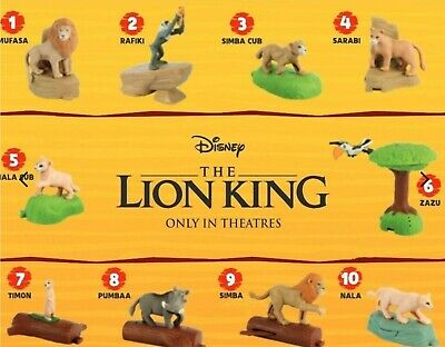2019 McDONALD'S THE LION KING HAPPY MEAL TOYS COMPLETE SET