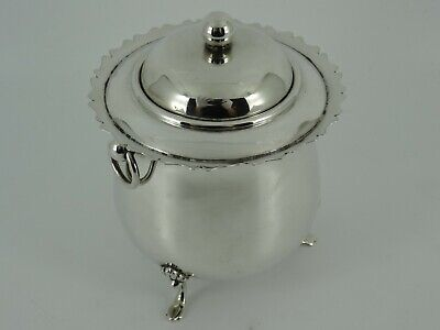 Fine Victorian Solid Sterling Silver Tea Caddy Canister Box Birmingham 1900 195G