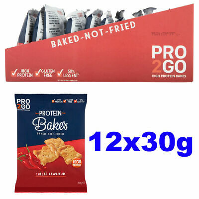 Sci-Mx Pro2Go Bakes Protein 12 x 30g Crisps Whey Pro 2 Go Duo Snack Chips Chilli