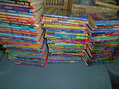 89 mixed lot-Tales GOOSEBUMPS/Horrorland Books RL Stine Give Yourself