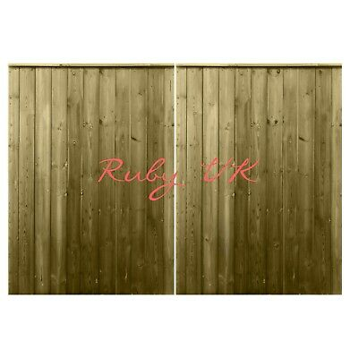 Pressure Treated Tongue & Groove Double Driveway Gate, Heavy Duty Wooden Gate