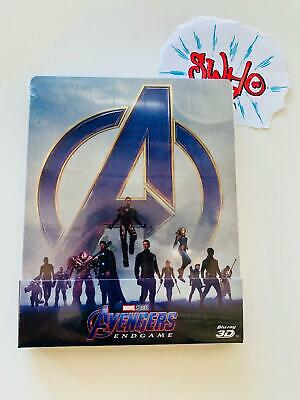 Avengers Endgame -  STEELBOOK  (BLU-RAY 3D + 2D) ED. ITALIANA NUOVO LIMITED