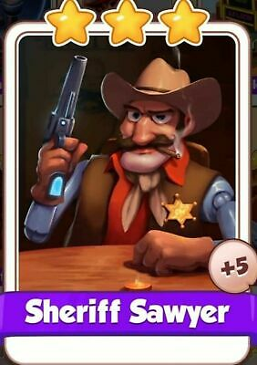 Sheriff Sawyer :- Cyber Cowboys card Set :- Coin Master ( Fastest Delivery )