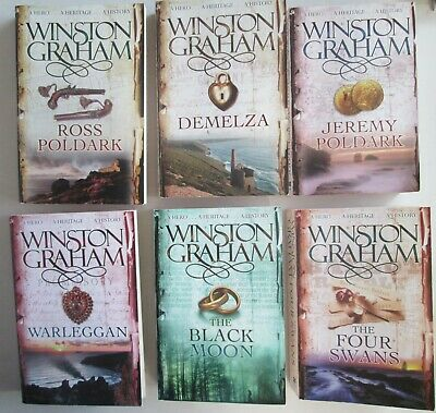Winston Graham Poldark Books 1-7 Pan Books Trade Paperbacks