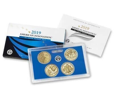 2019-S PROOF AMERICAN INNOVATION DOLLAR SET ( 4 coin set ) **Pre-Sale**