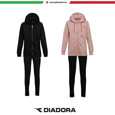 Diadora - L.HD FZ CUFF SUIT BRUSHED FL - TUTA FELPATA DONNA - art.  173591