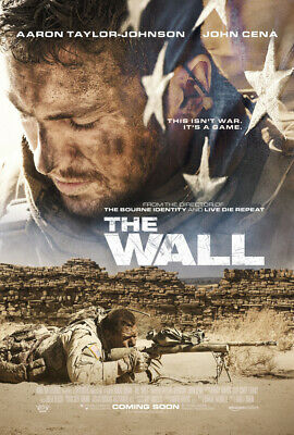 THE WALL MOVIE POSTER 2 Sided ORIGINAL FINAL 27x40 AARON TAYLOR JOHNSON