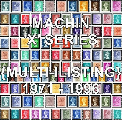 GB 1971+ Machin Definitives X Series (Multiple Listing) Unmounted Mint