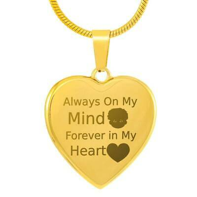 Always On My Mind, Forever in My Heart Gold Necklace