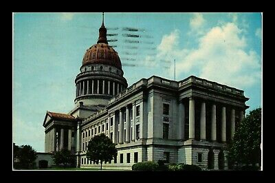 Us Postcard Street View West Virginia State Capitol Building Postmarked