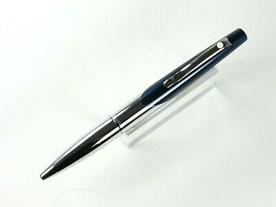 Sheaffer Intrigue Twist Action Ballpoint Pen In Petrol Blue Metallic And Chrome