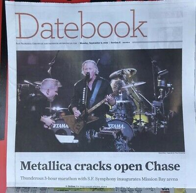 METALLICA San Francisco Symphony S&M2 Newspaper Chase Center No Poster Pick