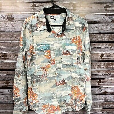 LRG Lifted Research Group Men's Small Long Sleeve Button Up Flannel Camouflage