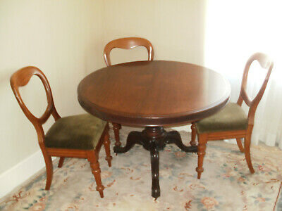 victorian dining table and chairs