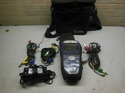 JDSU HST-3000 HST 3000 Color Screen 6.20.25 with bag and accessories