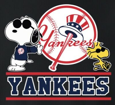(3) NY New York Yankees Cool Snoopy Waterproof Vinyl Stickers Car Decal 3x2.7