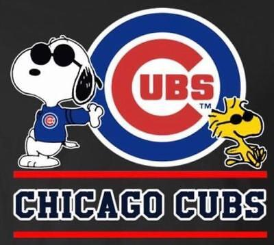 (3) Chicago Cubs With Snoopy Waterproof Vinyl Stickers Car Decal 3x2.7 MLB