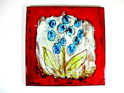 SIGNED WALL TILE BALZAC S.P.A. FIORANO ITALY CERAMIC 1960/70s  MODERNIST VINTAGE