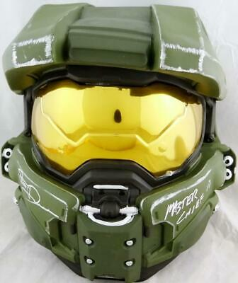 Steve Downes Autographed Halo Master Chief Helmet - Beckett Auth *Silver