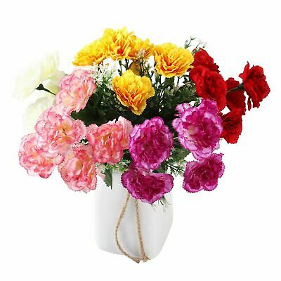 5 Head Artificial Carnation Bunch - Artificial Silk Flowers Funeral