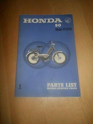 Catalogue Livret Piece De Rechange Moto Cyclomoteur Honda Model Pf50M