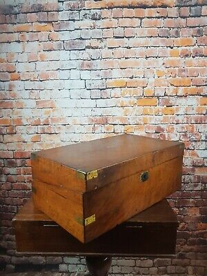 Vintage Slope Writing Box , Desk Box For Restoration No31
