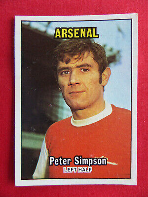 ORANGE BACK 1978 PETER SIMPSON -#243- ARSENAL TOPPS-FOOTBALL