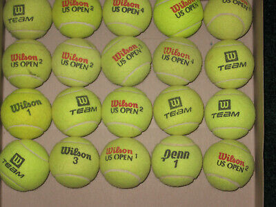 100 used  tennis balls, used 3 months for lessons