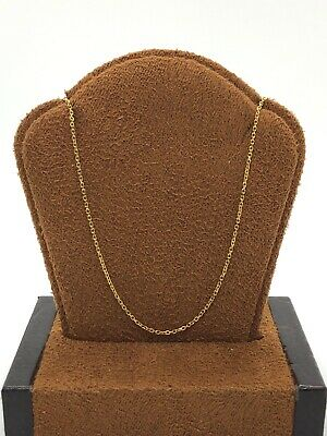 """Gorgeous Well Made 14KT Yellow Gold Circle Linked Chain Necklace - 16"""" Long"""