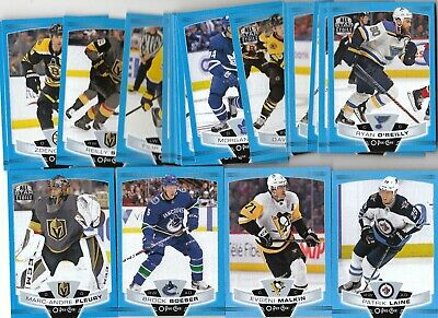 19/20 O-Pee-Chee OPC Blue Border Parallel #164 Erik Gustafsson - Blackhawks