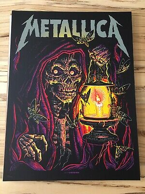 RARE 2018 Metallica Poster 9/6 Lincoln, NE Concert Gig Poster x/250 Munk One
