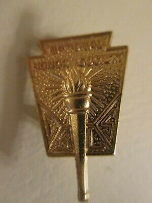 Vintage National Honor Society Gold Pin- B JP Registered makers mark-Excellent!
