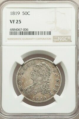 1819 Capped Bust Half Dollar NGC VF-25