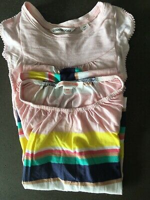 2x COUNTRY ROAD Girls Sz 3 shirts - 1x short sleeve stripe, 1x long sleeve pink