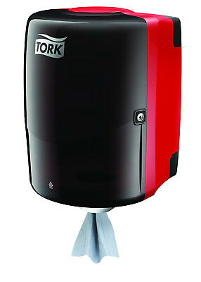 Tork Shop Towel Red Centerfeed Dispenser Plus Two Blue Paper Towel Rolls Combo