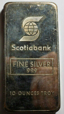 Scotiabank Johnson Matthey JM 10 oz .999 fine silver bar