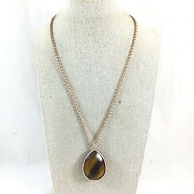 Fossil Gold Folkloric Tiger/'s Eye Convertible Necklace