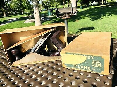 VTG STANLEY BAILEY No.4 WOODWORKING PLANE BOX No.4-C CORRUGATED USA WOOD TOOL
