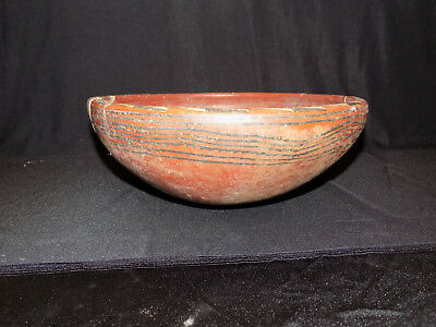 Large Pre-Columbian Chupicuaro Bowl, Authentic Mesoamerica, Polychrome Bowl