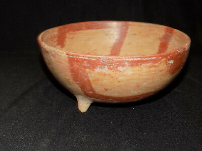 Pre-Columbian Chupicuaro Polychrome Lime Grater Bowl, Three Footed Bowl