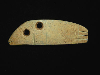 Pre-Columbian Fish Pendant, Central America, Authentic, Ancient Pendant, Large