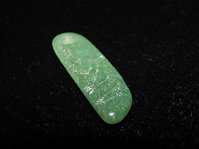 Pre-Columbian Carved Jade Pendant, Translucent Jade, Authentic