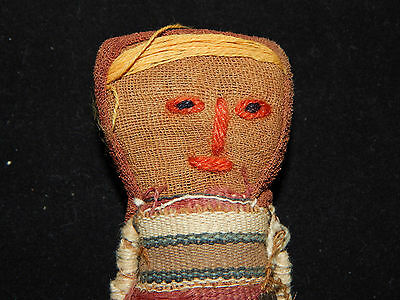 Pre-Columbian Chancay Burial Doll, Ancient Textile, Authentic