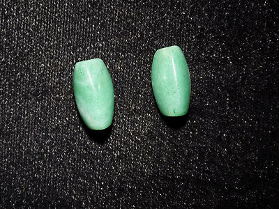 Authentic Pre-Columbian Blue Jade Pair of 2, Nicoya Costa Rica Jade