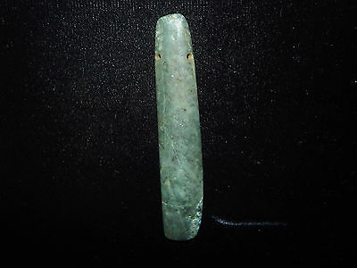 Pre-Columbian Ceremonial Jade Pendant, Very large, Dark Green Jade