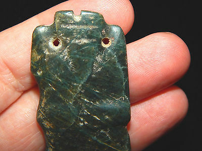 Pre-Columbian Ceremonial Jade Pendant, Anthropomorphic, Nicoya, Authentic