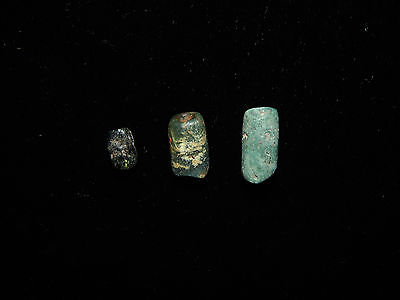 Pre-Columbian Jade Bead Collection, Set of 3, Central America