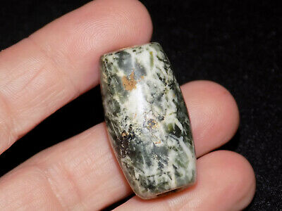 Pre-Columbian Tubular Bead, Nicoya Costa Rica Jade, Authentic